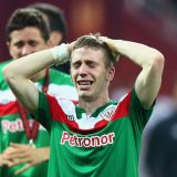 BUCHAREST, ROMANIA - MAY 09:  Iker Muniain of Athletic Bilbao looks dejected at the end of the UEFA Europa League Final between Atletico Madrid and Athletic Bilbao at the National Arena on May 9, 2012 in Bucharest, Romania.  (Photo by Alex Grimm/Getty Images)